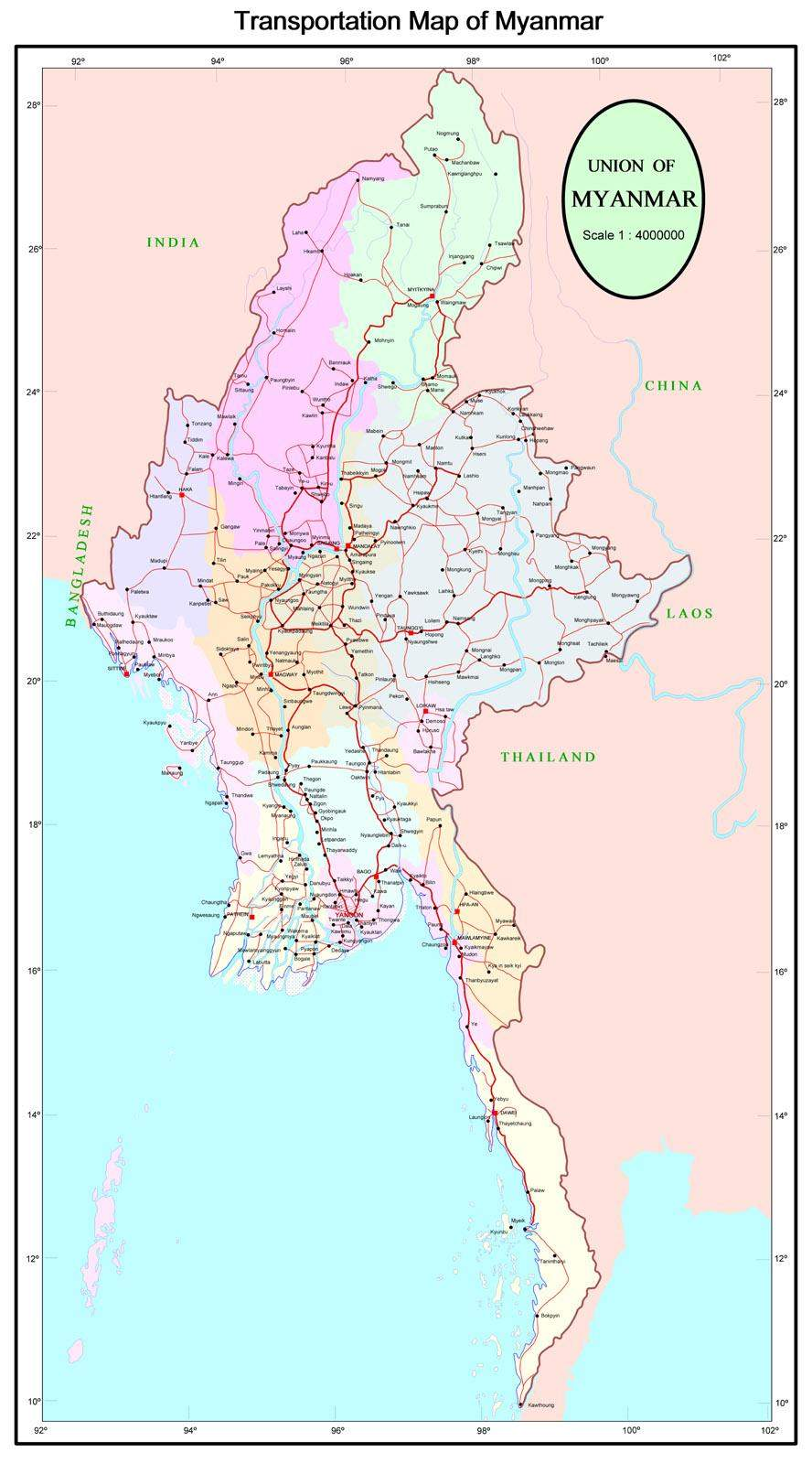 Myanmar Travel Agent MiNaMi Travel Myanmar Burma – Myanmar Travel Map